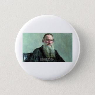 """Bóton Redondo 5.08cm Léon Tolstói """"não sabe nada"""" cartões das camisetas"""