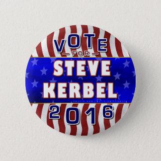 Bóton Redondo 5.08cm Libertário 2016 do presidente eleição de Steve