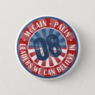 Bóton Redondo 5.08cm Líderes que de McCain Palin nós podemos acreditar
