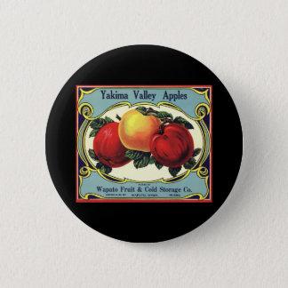 Bóton Redondo 5.08cm Maçãs do vale de Yakima da arte da etiqueta da