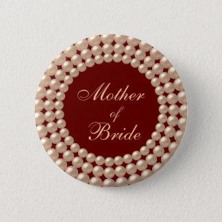 Bóton Redondo 5.08cm Mãe do botão Jeweled pérola da noiva