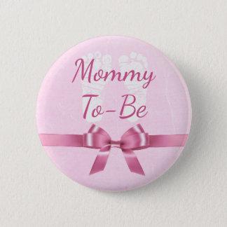 Bóton Redondo 5.08cm Mamães grandes do arco cor-de-rosa a ser botão do