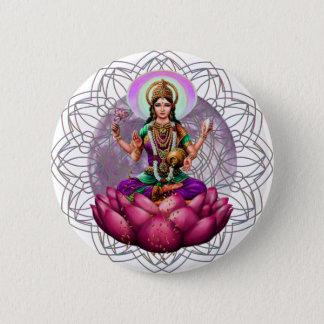 Bóton Redondo 5.08cm Mandala de Lakshmi da deusa
