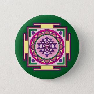 Bóton Redondo 5.08cm Mandala de Sri Yantra