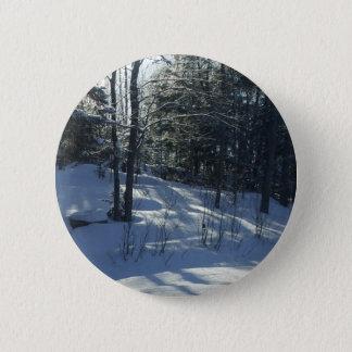 Bóton Redondo 5.08cm Manhã Sun em árvores do inverno