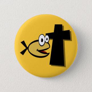 Bóton Redondo 5.08cm Mantenha seus olhos na cruz
