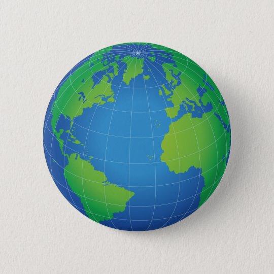Boton Redondo 5 08cm Mapa Do Globo Do Mundo Zazzle Portugal