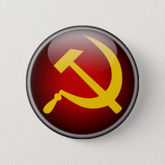 Bóton Redondo 5.08cm Martelo e foice soviéticos do russo