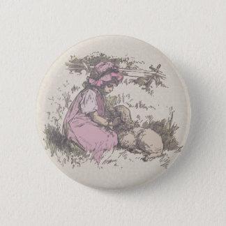 Bóton Redondo 5.08cm Mary teve uma rima de berçário pequena do cordeiro