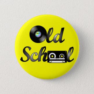 Bóton Redondo 5.08cm Meios da música da velha escola redondos (amarelo)