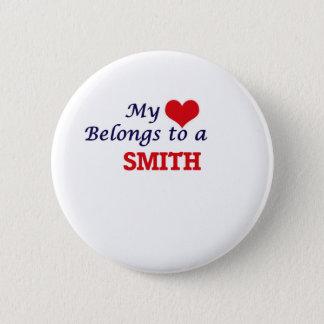 Bóton Redondo 5.08cm Meu coração pertence a um Smith
