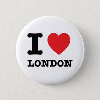Bóton Redondo 5.08cm Mim botão de Londres do coração