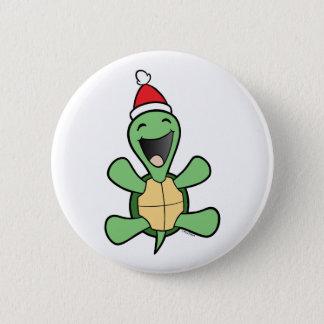 Bóton Redondo 5.08cm Natal feliz da tartaruga