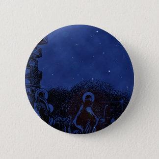 Bóton Redondo 5.08cm Natividade da noite estrelado