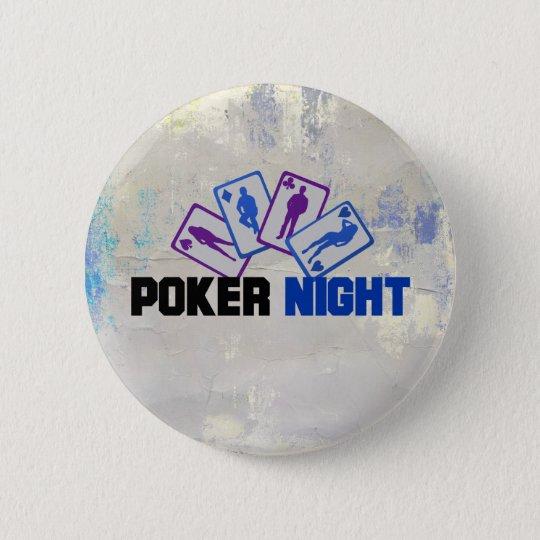 Bóton Redondo 5.08cm Noite do póquer com cartões de jogo