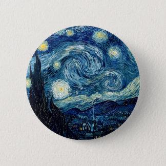 Bóton Redondo 5.08cm Noite estrelado por Vincent van Gogh