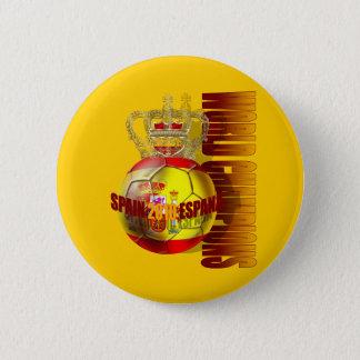Bóton Redondo 5.08cm O mundo patrocina o futebol 2010 da espanha