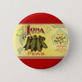 Bóton Redondo 5.08cm O vegetal do vintage pode etiquetar a arte,