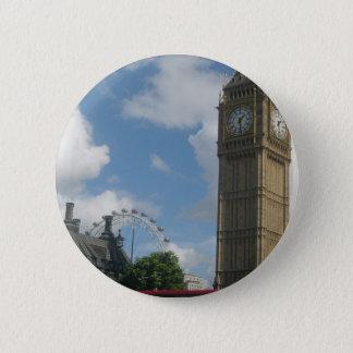 Bóton Redondo 5.08cm Olho & Big Ben de Londres