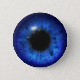 Bóton Redondo 5.08cm Olhos azuis profundos hipnóticos