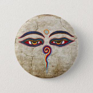 Bóton Redondo 5.08cm Olhos do der Weisheit de Buddha/Augen