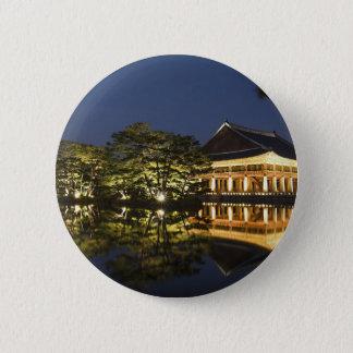 Bóton Redondo 5.08cm Paisagem asiática e palácio