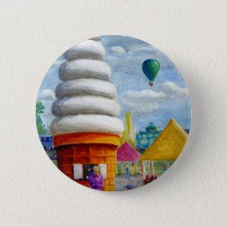 Bóton Redondo 5.08cm Paisagem gigante do carnaval do cone do sorvete