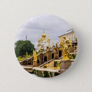 Bóton Redondo 5.08cm Palácio de Peterhof e jardins St Petersburg Rússia