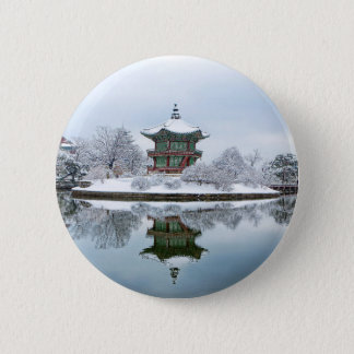 Bóton Redondo 5.08cm palácio do asiático do gyeongbok