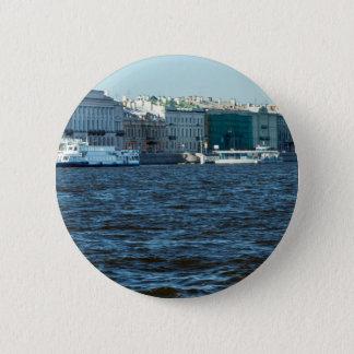 Bóton Redondo 5.08cm palácios no rio St Petersburg Rússia do neva