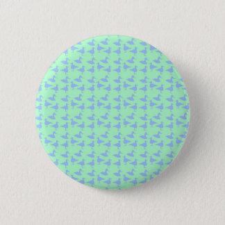 Bóton Redondo 5.08cm Patos azuis