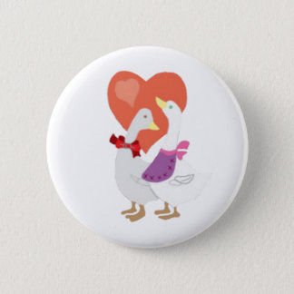 Bóton Redondo 5.08cm Patos no amor