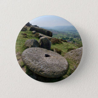 Bóton Redondo 5.08cm Pedra de moer de Derbyshire