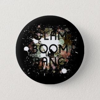 Bóton Redondo 5.08cm Pintura Glam Splat da luz do golpe do crescimento