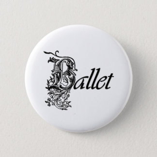 Bóton Redondo 5.08cm Presente decorativo do balé para dançarinos