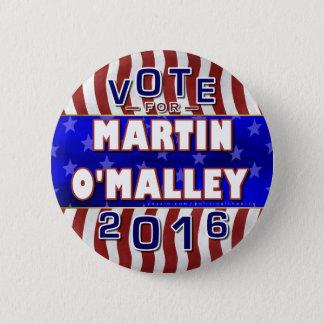 Bóton Redondo 5.08cm Presidente de Martin O'Malley eleição 2016