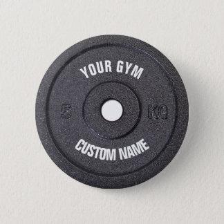 Bóton Redondo 5.08cm Proprietário do Gym ou botão engraçado do usuário