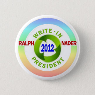 Bóton Redondo 5.08cm Ralph Nader inscrito para o presidente 2012