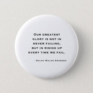 Bóton Redondo 5.08cm Ralph Waldo Emerson - citações da motivação