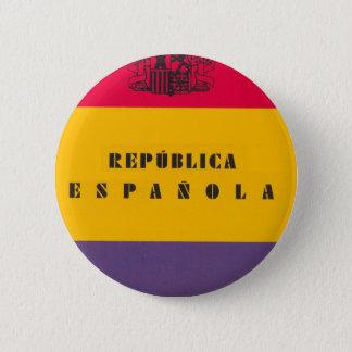 Bóton Redondo 5.08cm República da bandeira da espanha - bandera