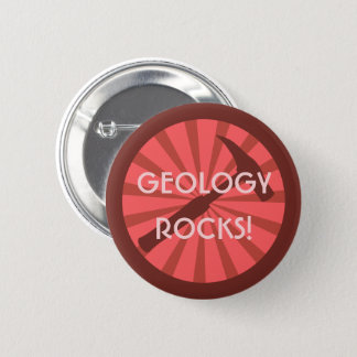 Bóton Redondo 5.08cm Rochas da geologia! Crachá do martelo