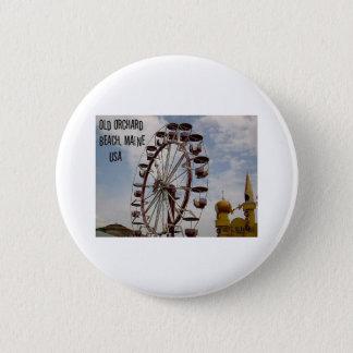 Bóton Redondo 5.08cm Roda de Ferris na praia velha do pomar de Playland