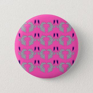 Bóton Redondo 5.08cm Rosa dos elementos do design