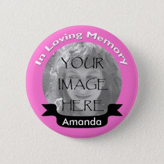 Bóton Redondo 5.08cm Rosa em botão Loving da foto da memória