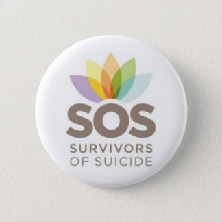Bóton Redondo 5.08cm Roupa do SOS. Sobreviventes do suicídio pelo SPS.