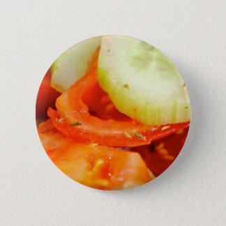 Bóton Redondo 5.08cm Salada do tomate e do pepino