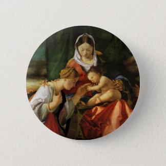 Bóton Redondo 5.08cm Santo Catherine e Mary de Jesus do bebê