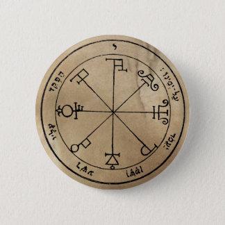 Bóton Redondo 5.08cm Sexto Pentacle do botão de Saturn