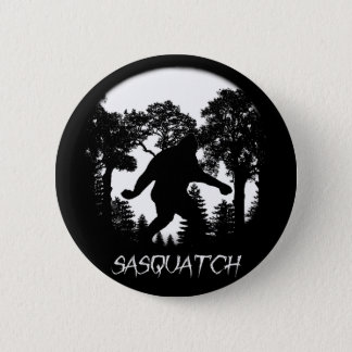 Bóton Redondo 5.08cm Silhueta de Sasquatch