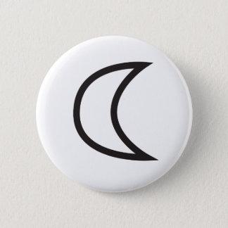 Bóton Redondo 5.08cm Símbolo da lua de Wiccan